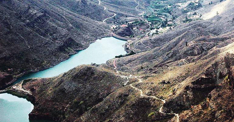 Stausee Soria auf Gran Canaria. Foto: Moisés pérez