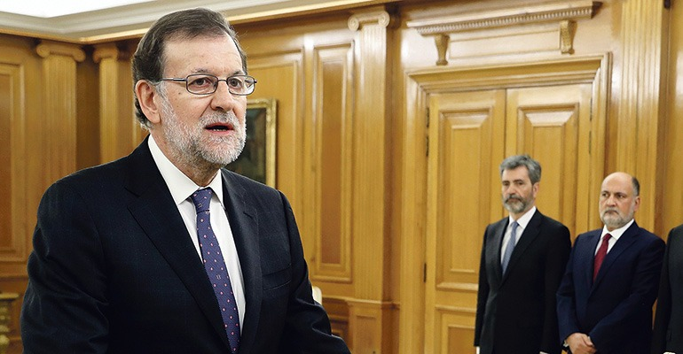 Am 31. Oktober legte Mariano Rajoy vor König Felipe seinen Amtseid ab. Foto: EFE