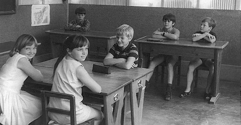 Unterricht Anfang der 70er-Jahre.