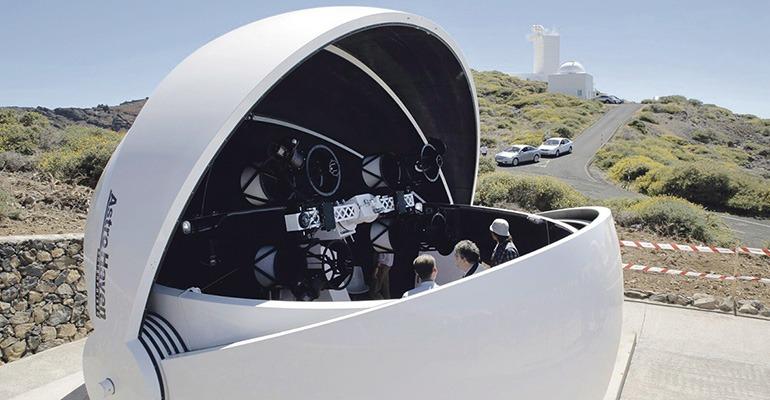 Neues teleskop auf dem roque wochenblatt.es