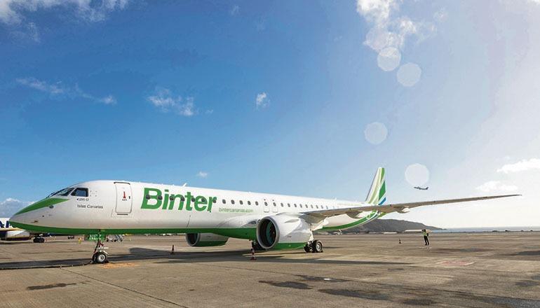 Der neue Embraer-Jet von Binter Foto: Binter