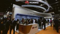 Der Stand von Huawei auf der World Future Energy Summit 2020 in Abu Dhabi Foto EFE
