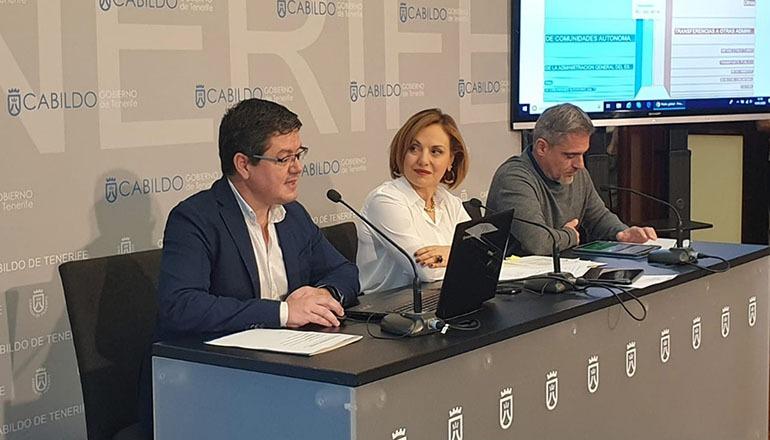 Ressortleiterin Berta Pérez und Abteilungsleiter Daniel González sowie José Isaac Gálvez stellten das Projekt vor. Foto: cabildo de tenerife