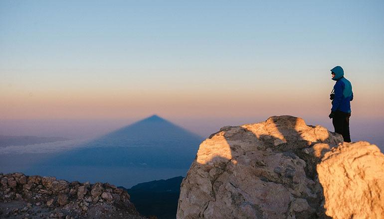 Wanderer auf dem Teide CABTF 2