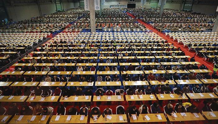 In Galicien waren mehr als 9.700 Personen zu der Prüfung angemeldet. Foto: EFE