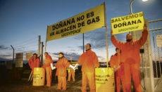 Greenpeace protestierte im Jahr 2016 vor Ort gegen die Einlagerung von Gas im Naturschutzgebiet Doñana. Foto:greenpeace