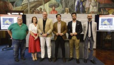 Cabildo-Präsident Pedro Martín (re) und der Involcan-Direktor Nemesio Pérez (li) bei der Pressekonferenz Foto: CABTF