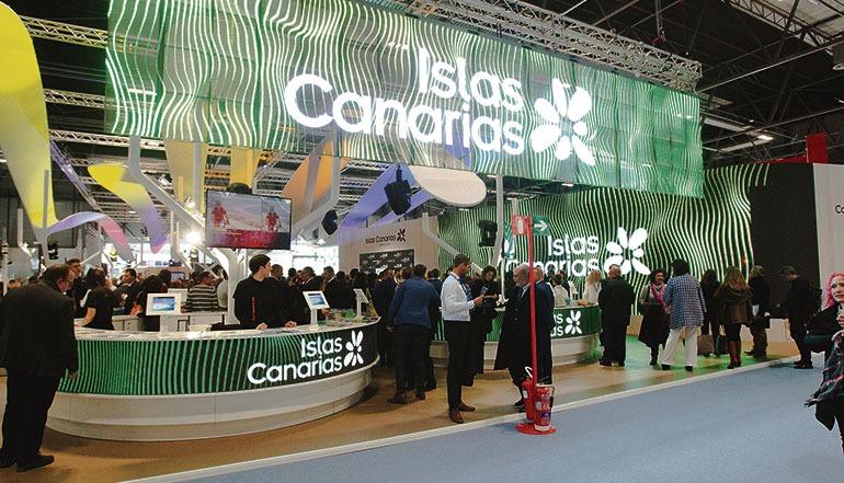Auf dem kanarischen Messestand fanden zahlreiche Gespräche und Verhandlungen mit Kunden und Partnern wie Airlines und Reiseveranstalter statt. Foto:EFE