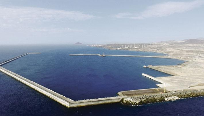 Industriehafen von Granadilla Foto: Puertos de Tenerife