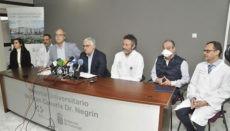 Pressekonferenz im Universitätskrankenhaus Dr. Negrín Foto: GobCan