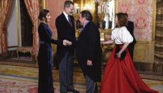 König Felipe und Königin Letizia beim Empfang des diplomatischen Korps im Königspalast in Madrid Foto: EFE