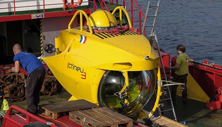 Das U-Boot Ictineu 3 lässt sich ob seiner geringen Größe und einem Gewicht von nur 5,5 Tonnen gut transportieren. Foto EFE