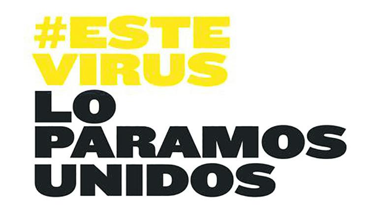 Mit diesem Slogan ruft die spanische Regierung zur Solidarität auf.