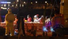 """Die """"Guardamar Talía"""" brachte die 62 Migranten aus zwei Pateras in Los Cristianos an Land. Foto: EFE"""