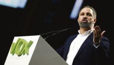 VOX-Parteichef Santiago Abascal bei einem Auftritt Foto: EFE