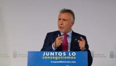Der kanarische Regierungschef erklärte in einer Video-Pressekonferenz, dass die Inseln zu den Regionen mit der niedrigsten Sterberate zählen. Foto: Gobierno de Canarias