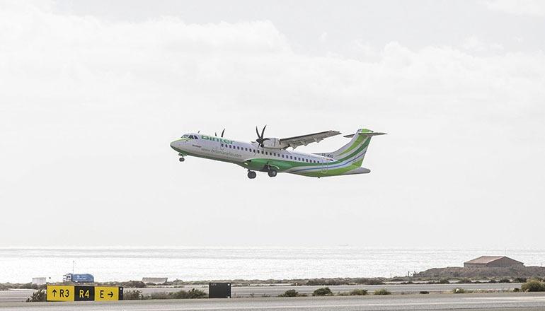 Binter fliegt von den Kanaren nach Madeira mit Maschinen des Typs ATR-72. Foto: binter