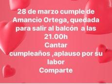 Geburtstag von Amancio Ortega