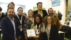 Die kanarische Delegation mit dem Preis für den besten Drehort in Berlin Foto: canary islands film