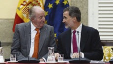 Juan Carlos I. und sein Sohn Felipe VI. bei einem Treffen im Mai 2019. Foto: efe
