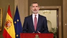 König Felipe wandte sich am 19. März in einer Fernsehansprache an das spanische Volk. Foto: EFE