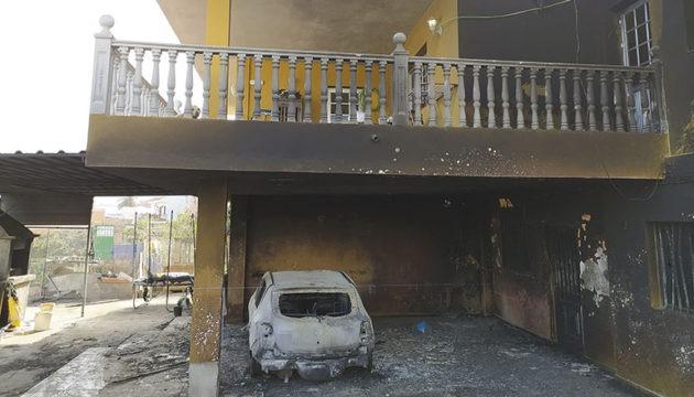 Eines der in Santa Úrsula vom Feuer betroffenen Wohnhäuser. Foto: Moisés Pérez