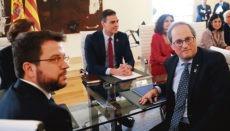 Das Treffen der ersten Gesprächsrunde fand in Madrid statt Foto: EFE