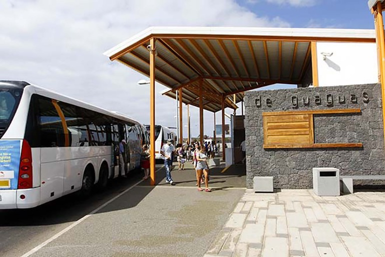 """""""Schwarzfahren"""" ist vorübergehend erlaubt in den Linienbussen von Lanzarote. Foto: Cabildo de Lanzarote"""