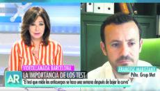 Ein Ausschnitt des Interviews von Ana Rosa Quintana mit Francesc Maristany Foto: WB