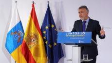 """Kanarenpräsident Ángel Víctor Torres bei der Pressekonferenz am 5. April: """"Wenn man die Kurzarbeit (ERTE) in Entlassungen ausdrückt, würden wir von 150.000 Jobs sprechen."""""""