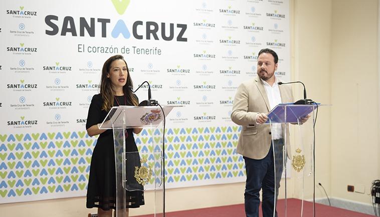 Bürgermeisterin Patricia Hernández kündigte das durch die Corona-Krise geänderte Programm an. Foto: Ayuntamiento de Santa Cruz de Tenerife