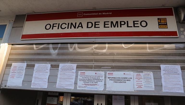 Ein Arbeitsamt in Madrid Foto: EFE
