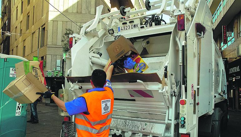 Die Müllabfuhr hat dieser Tage weniger zu tun. Foto: Ayuntamiento de Santa Cruz