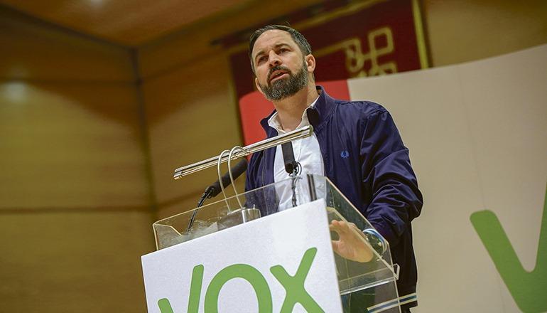 VOX-Chef Santiago Abascal Foto: EFE