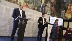 Enrique Arriaga, Pedro Martín und María José Belda (v.l.n.r.) präsentierten ein erstes Maßnahmenpaket zur Bewältigung der wirtschaftlichen Folgen der Corona-Krise. Foto: Cabtf