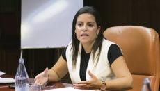 Yaiza Castilla sieht in der neuen App von kanarischen Entwicklern eine Möglichkeit, um die Sicherheit von Touristen zu gewährleisten. Foto: Gobierno de Canarias