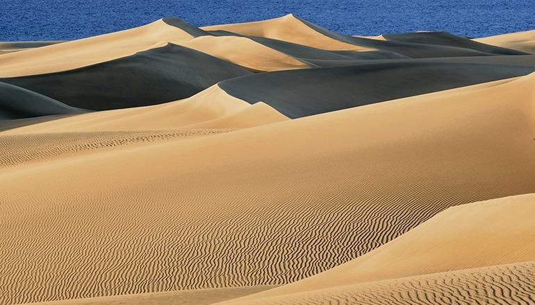 Die herrliche Dünenlandschaft weist jetzt wieder das typische Wellenmuster auf. Foto: Miguel Ángel Peña