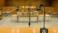 Noch sind die Gerichtssäle leer, doch das soll sich bald ändern. Foto: EFE