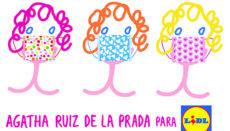 Die Masken mit Muster im charakteristischen Stil von Agatha Ruiz de la Prada sollen ab Juli verkauft werden. Foto: Lidl