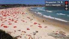Kameras nehmen auf, welche Areale besetzt und welche frei sind. Wird der Strand zu voll, springt die Ampel auf rot. Foto: Telefónica
