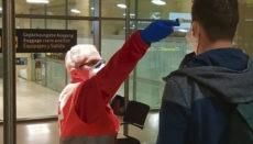 Fiebermessen auf einem Flughafen Foto: gobierno de canarias