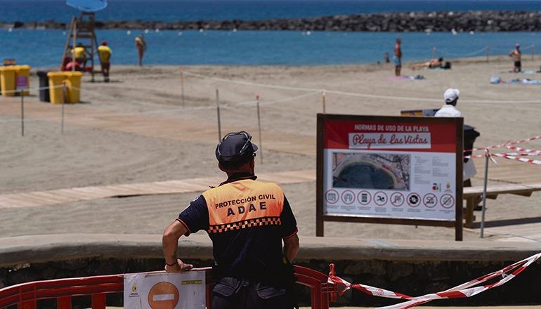 Der Strand Las Vistas in Arona Foto: EFE