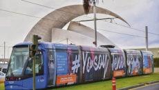 Die erste Straßenbahn fuhr am 2. Juni 2007 von Santa Cruz nach La Laguna. Seither wurden mehr als 1,8 Millionen Fahrten absolviert. Foto: Metrotenerife