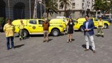 Einige der neuen Brifor-Fahrzeuge zur Waldbrandbekämpfung Foto: Cabildo de Tenerife