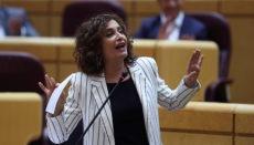 Regierungssprecherin María Jesús Montero gab die Entscheidung des Ministerrates bekannt. Foto: EFE