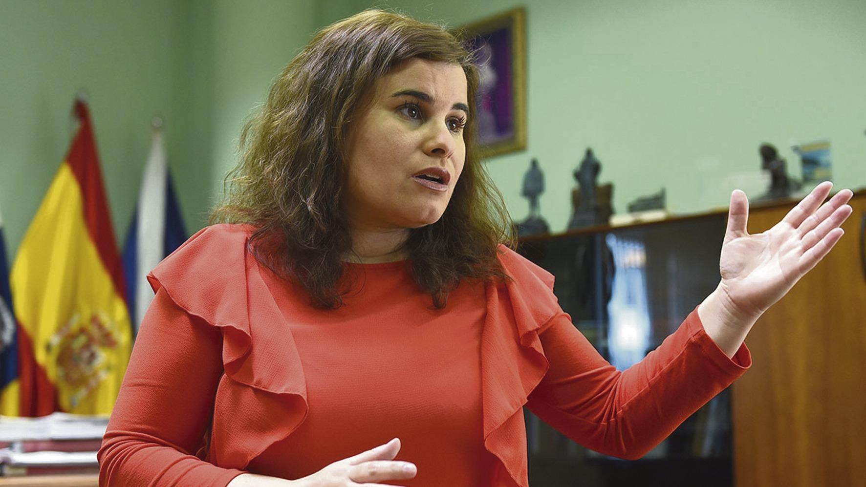 María Concepción Brito, Bürgermeisterin von Candelaria Foto: efe