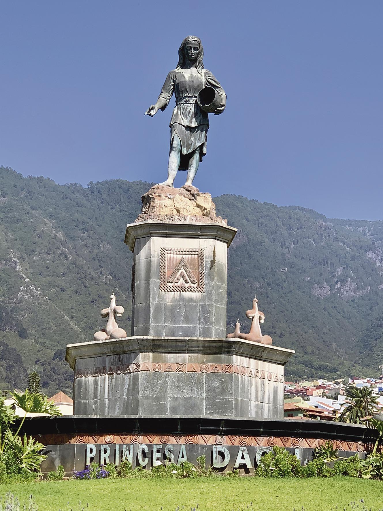 Mädchen, die Dácil heißen, sind nach einer Guanchen-Prinzessin benannt. Ihr ist auch der Brunnen an der Ortszufahrt zu La Orotava gewidmet. Dácil war eine Tochter von König Bencomo. Foto: wb