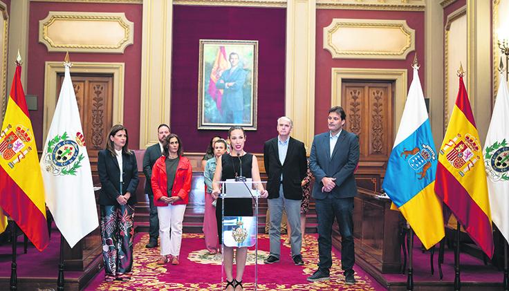 Bürgermeisterin Patricia Hernández versicherte, dass sie nicht ruhen werde, bis die Entschädigungssumme bis auf den letzten Cent gezahlt ist. Foto: ayuntamiento de santa cruz de tenerife