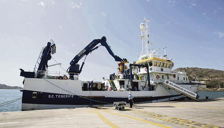 Ein Forschungsschiff des IEO (Archivfoto) Foto: EFE