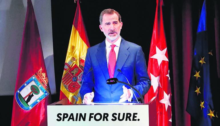 """Der Monarch appellierte an die """"Fähigkeit der Bürger, Krisen zu bewältigen"""". Foto: efe"""